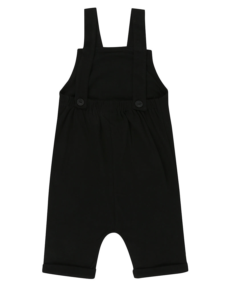 Shortie Dungaree Black