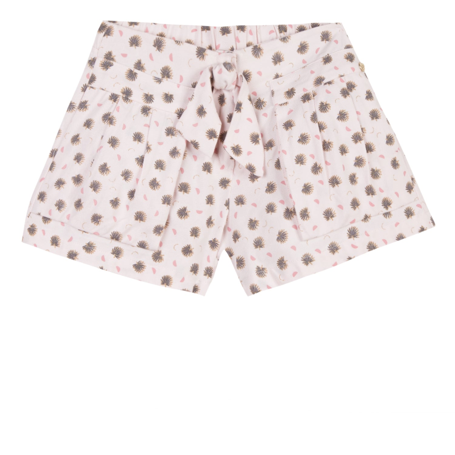Girls Golden Green Palm Short