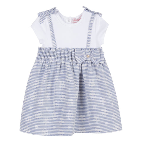 Baby Girls Striped Cotton Dress