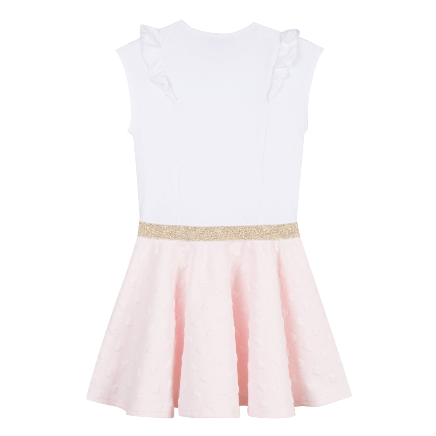 Girls Sleeveless Dress With Gold Knot Waist
