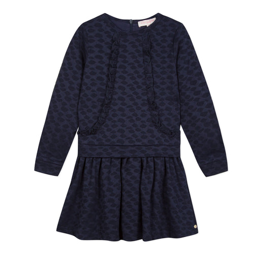 Girls Navy Prairie Dress