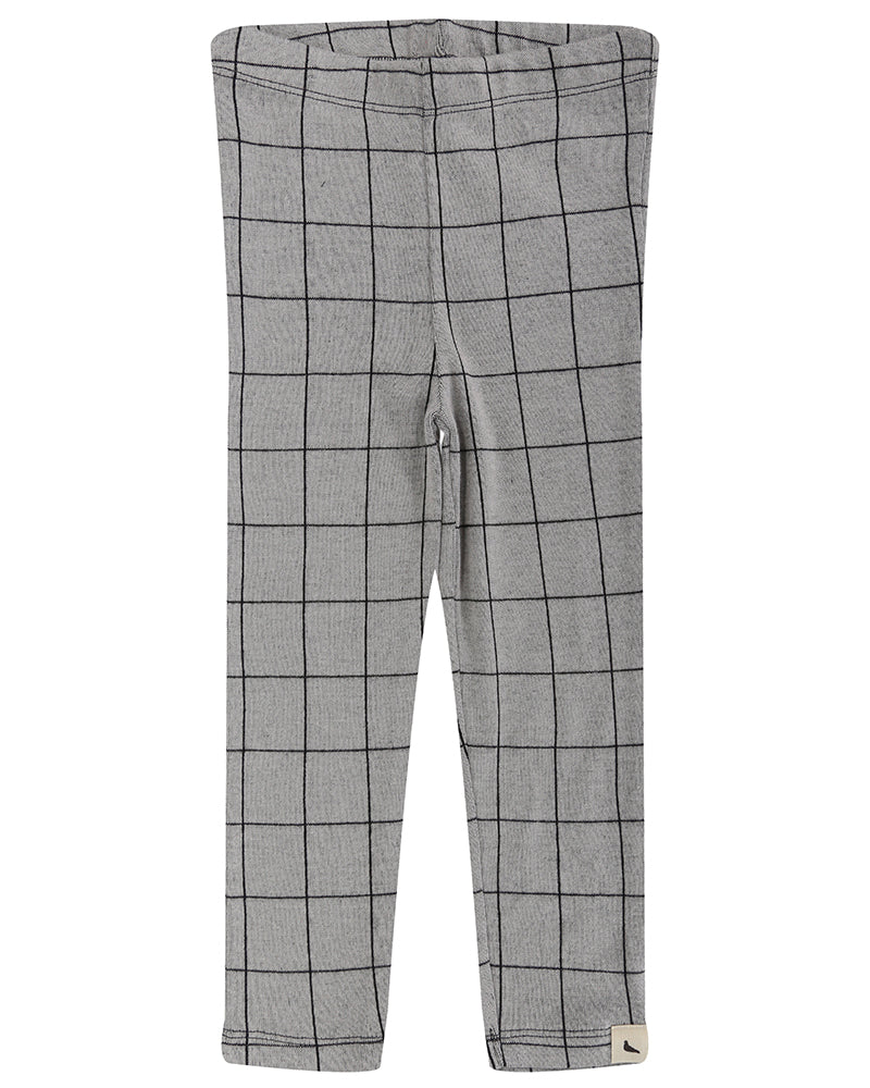 Unisex Jacquard Checkered Leggings