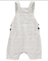 Baby Boy Grey Striped Overall