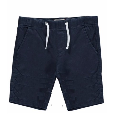 Boys Cotton Navy Bermuda Shorts