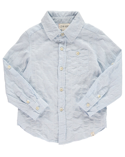 Boys Long Sleeve Cotton Woven Shirt