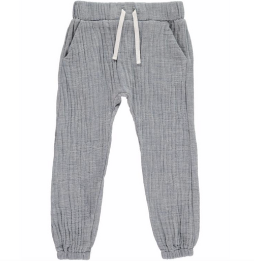Boy's Blue Woven Joggers