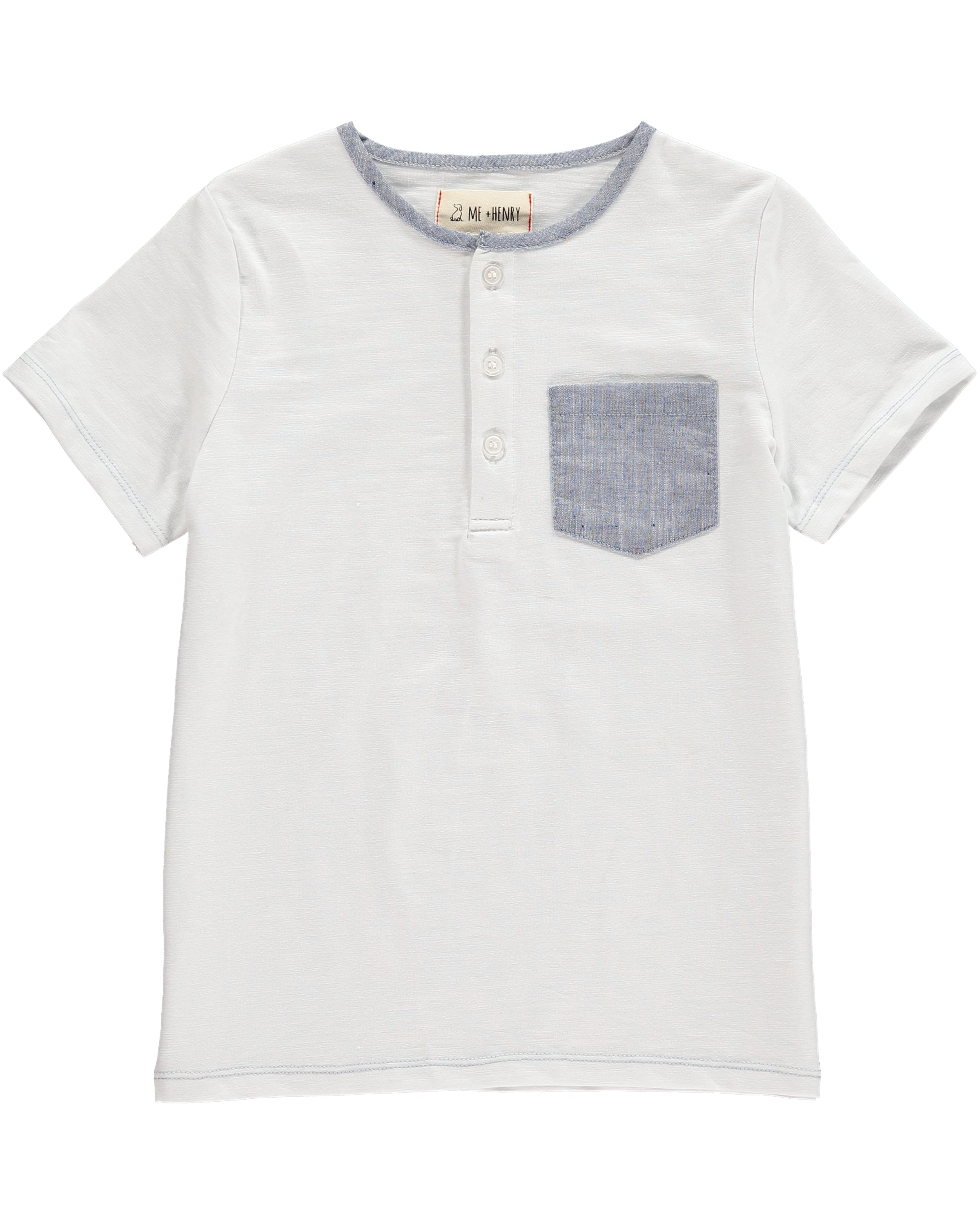 Boys Cotton White T-Shirt
