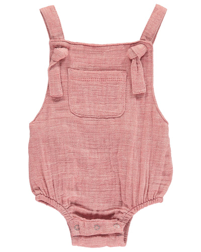 Baby Boys Woven Knotted Bubble Romper