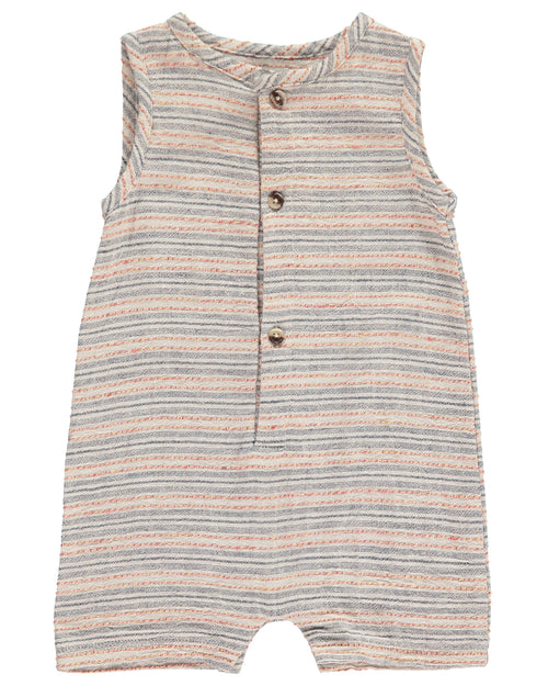 Baby Boys Multi Color Striped Woven Playsuit