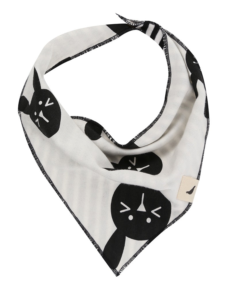 Bunny Stripe Reversible Bib