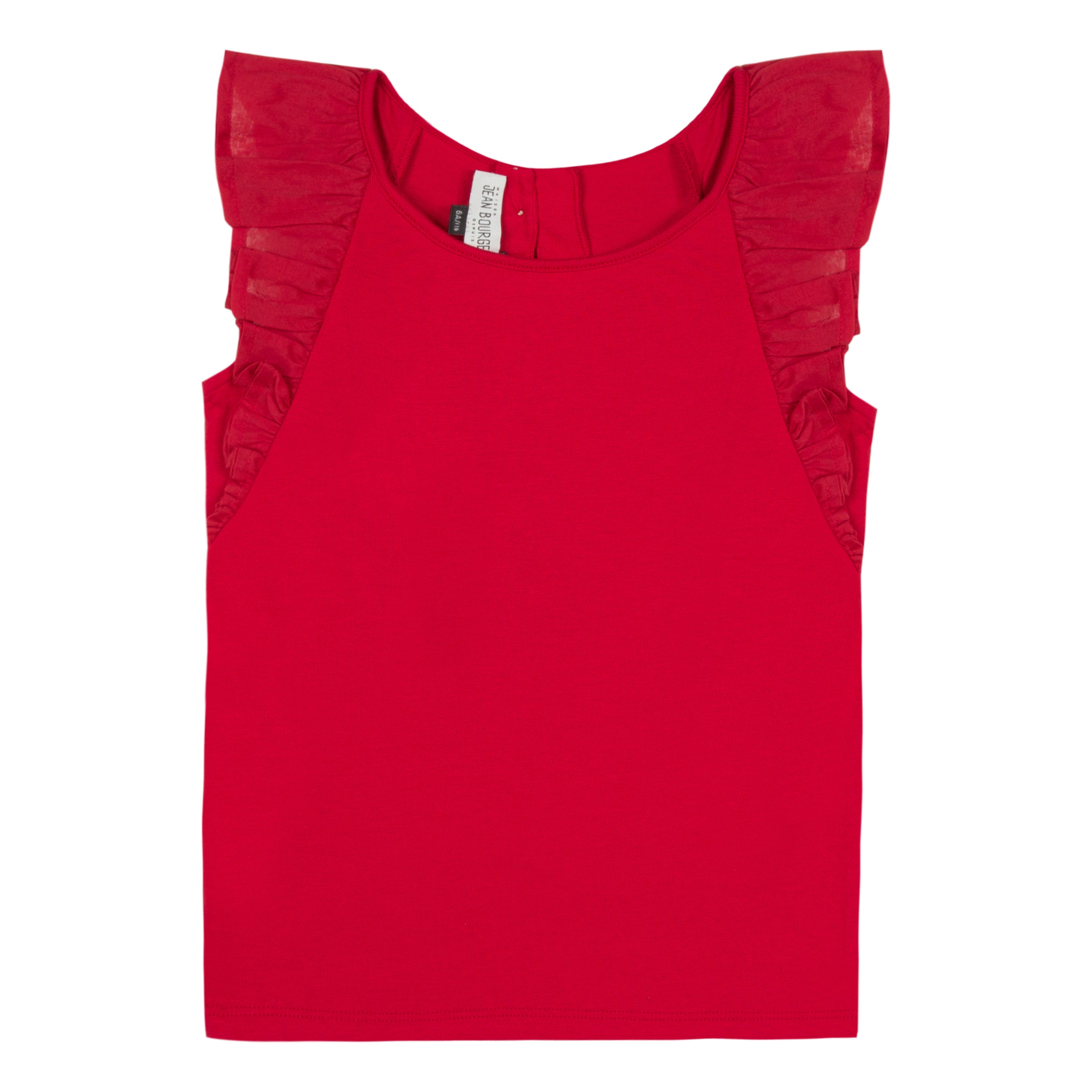 Girls Flounced Top Red Or White
