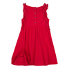 Jean Bourget modal cotton jersey dress has a bright white or red look. The silhouette is animated with folds on th