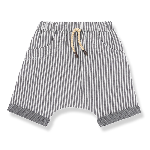Baby Boys Striped Cotton Bermuda Short
