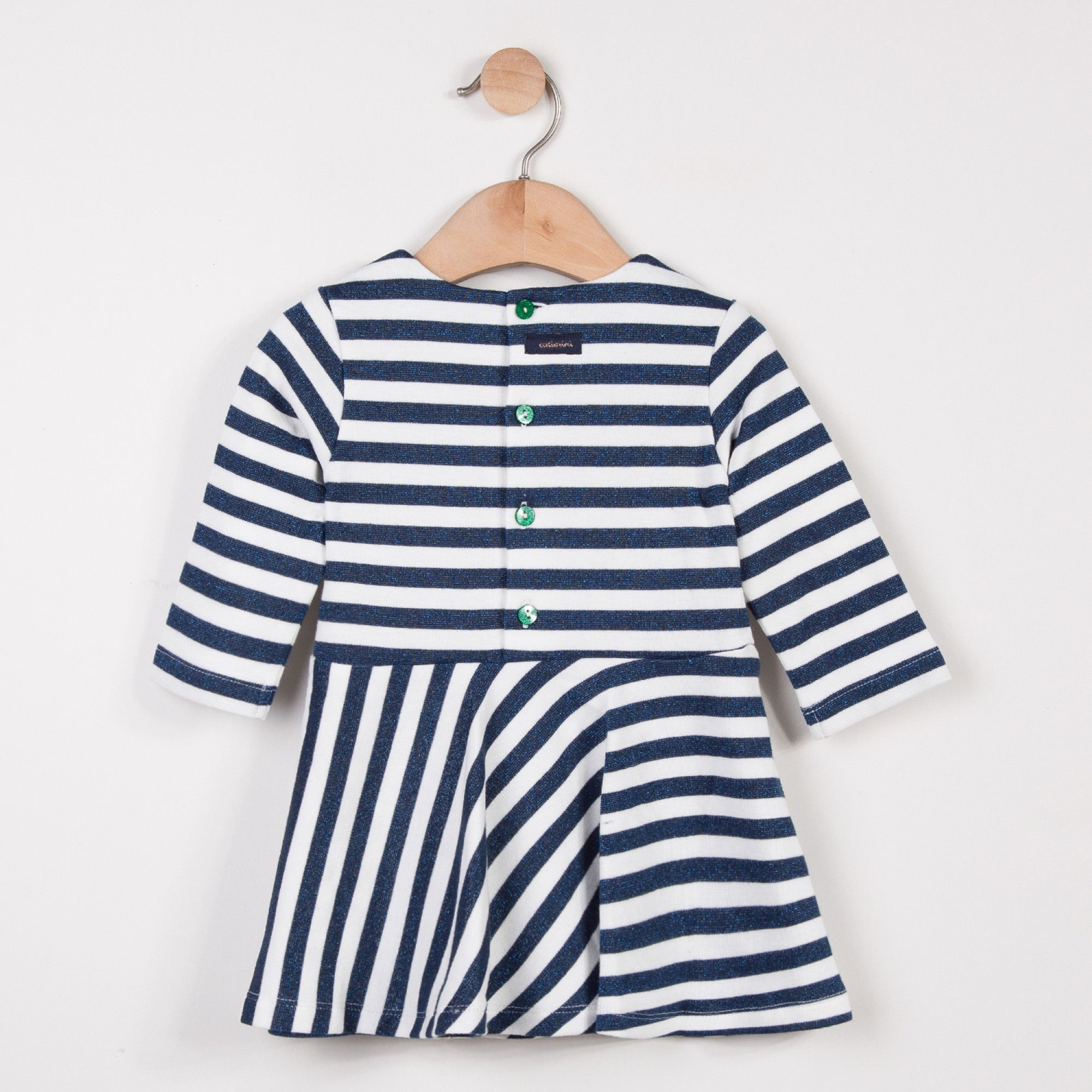 Baby Girls Glitter Striped Dress