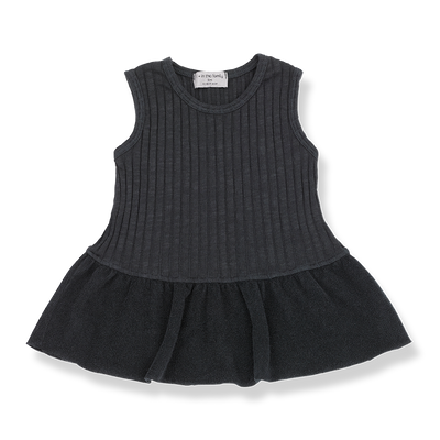 Baby Girls Ribbed Cotton Terry Cloth Dress