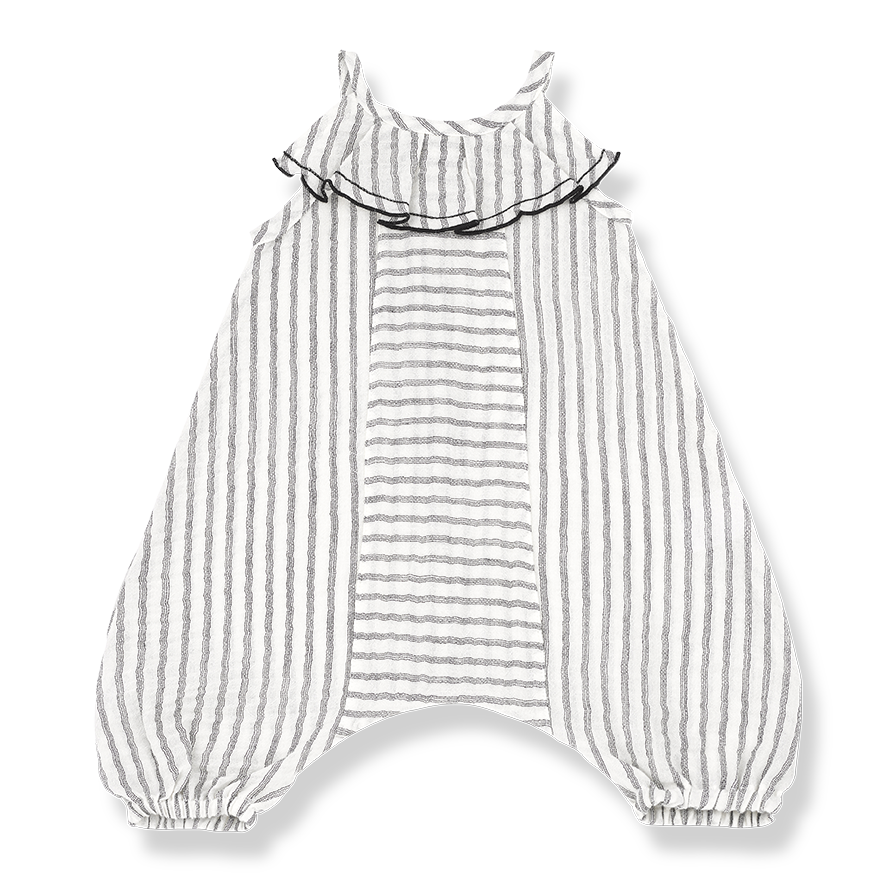 Baby Girls Cotton Striped Overalls