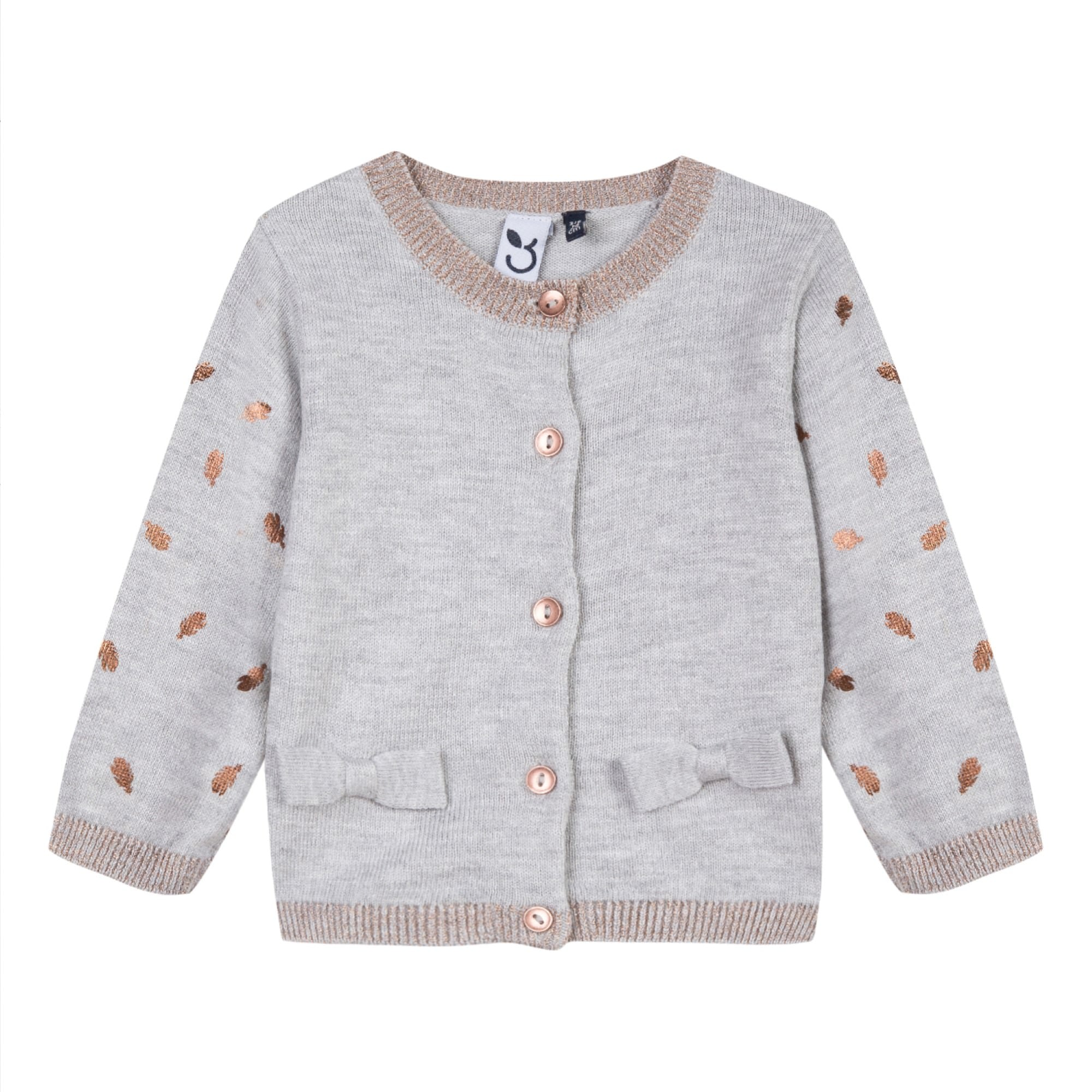 b3adb869c Baby   Toddler Girls Beige Knit Cardigan With Bows – House of Sofella