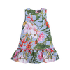 Girls tropical print sleeveless dress by Imoga.