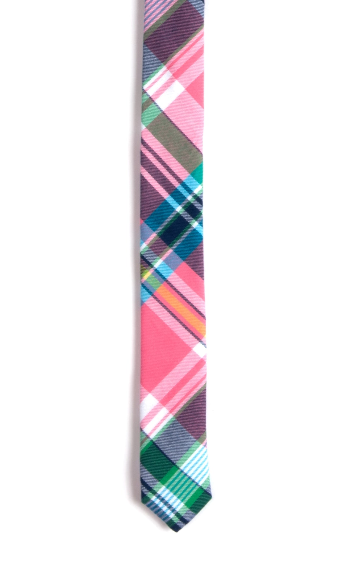South Beach Plaid Tie For Boys