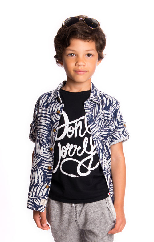 Boys Pattern Short Sleeve Shirt