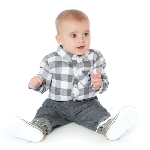 Baby Boys Dark Grey Joggers