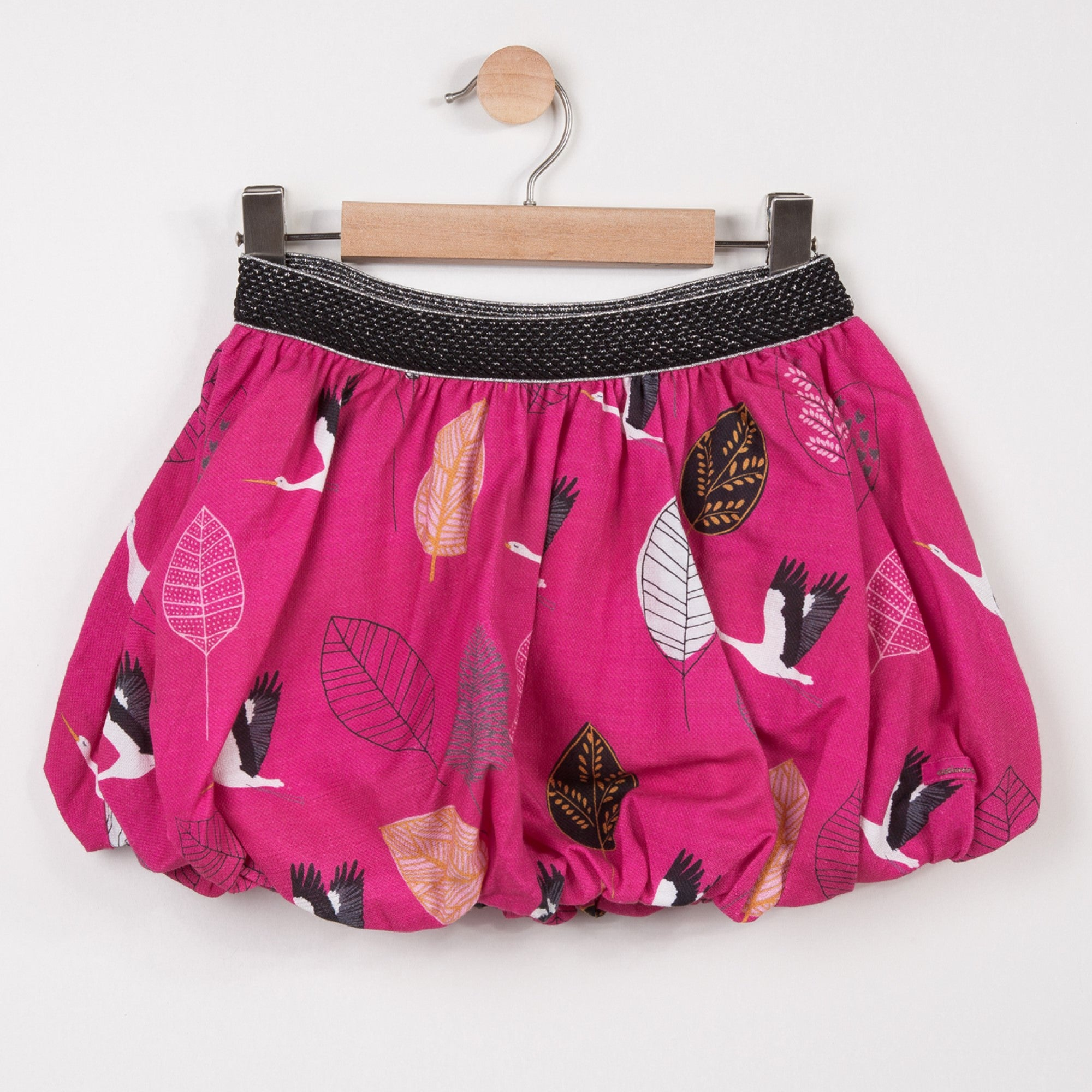 "Girls Fuchsia ""Leaves"" Skirt"