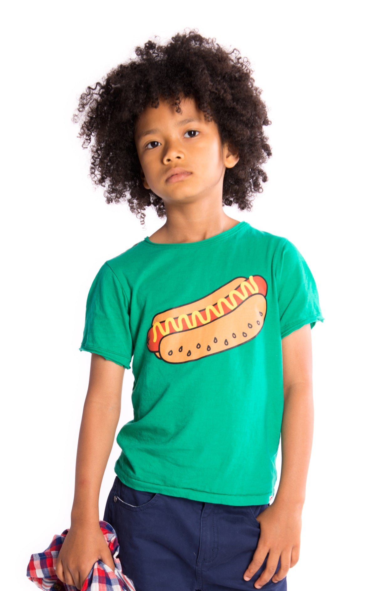 "Boys ""Hot Dog"" Short Sleeved Graphic Tee"