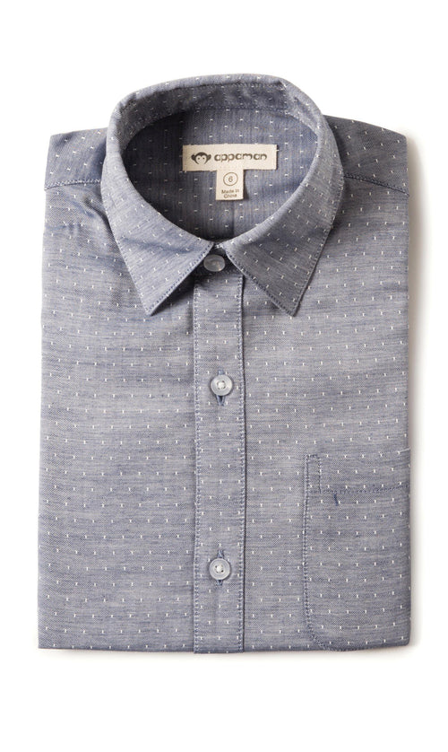 Boys Standard Shirt Navy Square