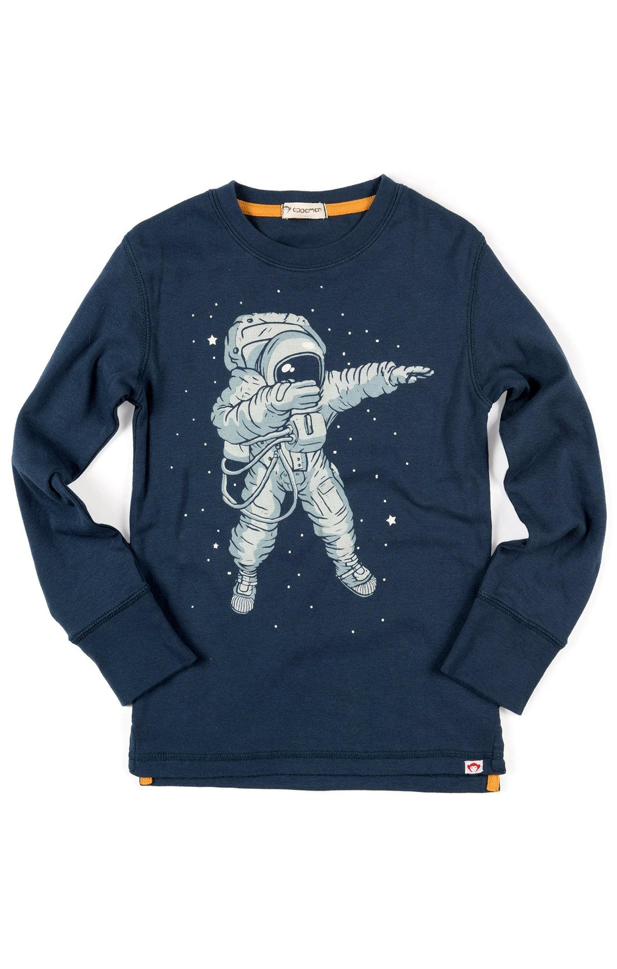 Boys Navy Space Dab T-Shirt