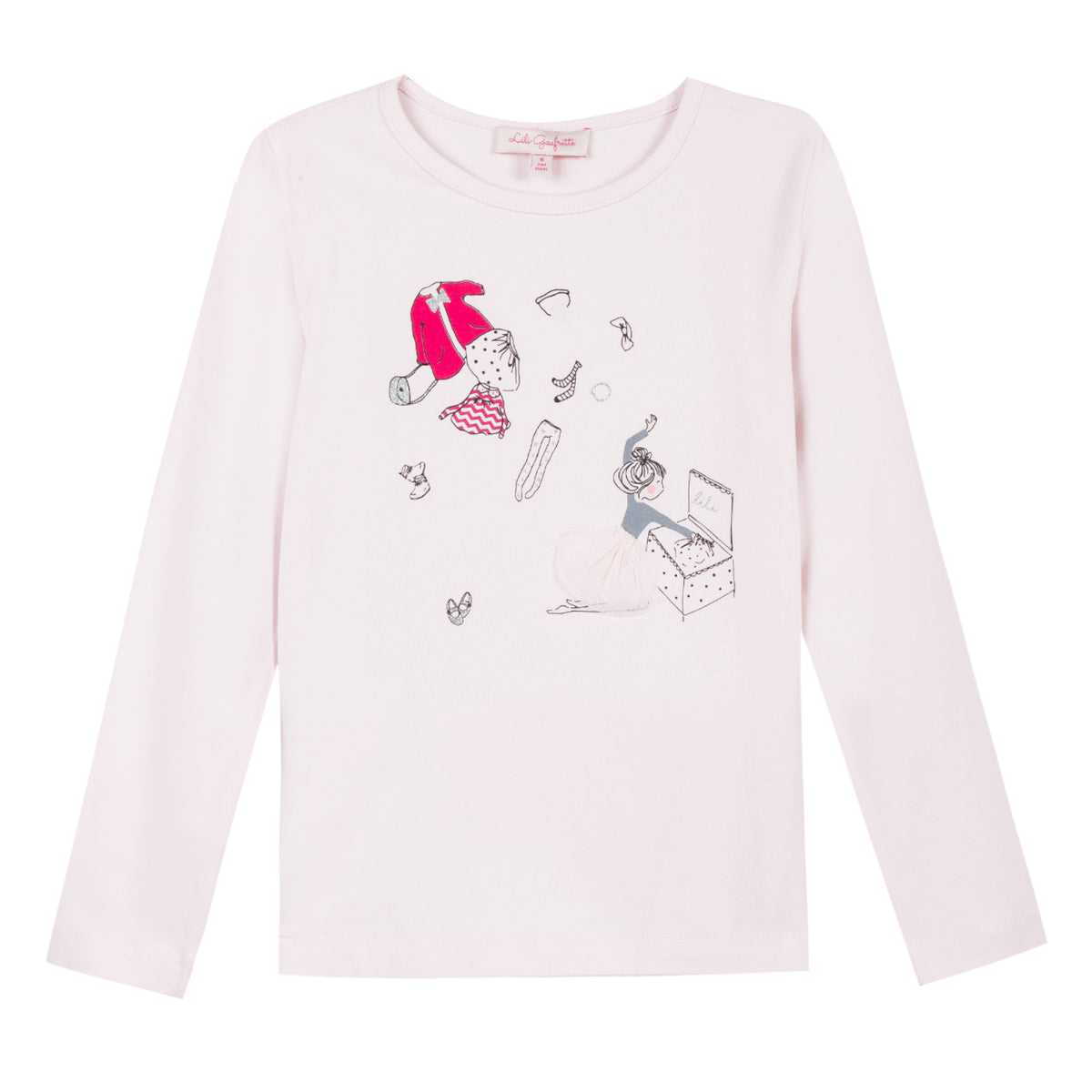 Toddler Girls Pink Graphic Long Sleeve Top