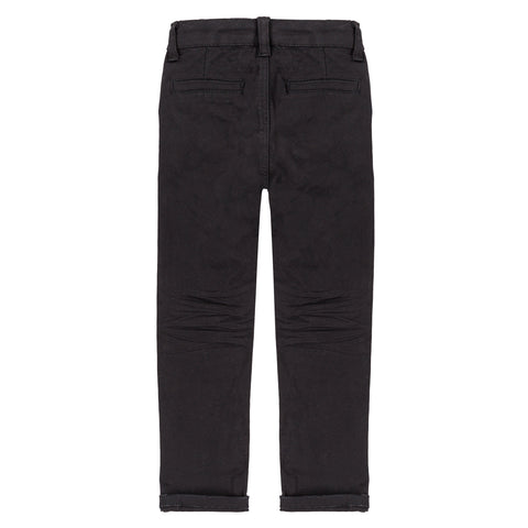 Boys Black Zip Up Joggers