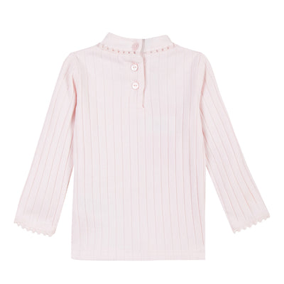 Baby & Toddler Girls Ribbed Ivory Top