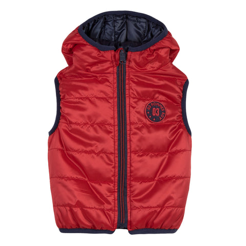Boys Dark Red Reversible Vest
