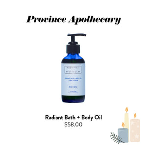 Province Apothecary - Radiant Bath + Body Oil
