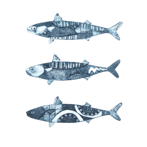 Wildshed limited edition print - three little fish