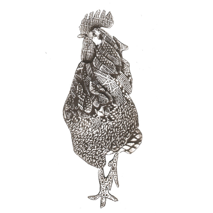 Wildshed limited edition print - cockerel
