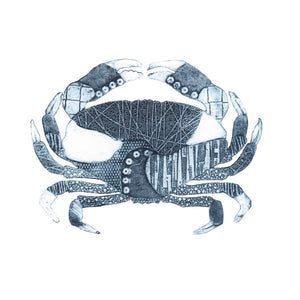 Wildshed limited edition print - crab denim