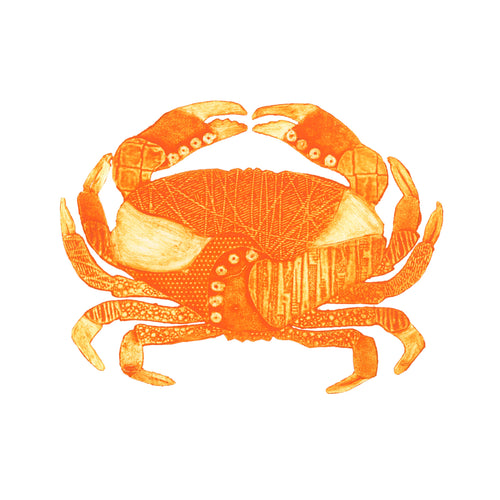 Wildshed limited edition print - crab orange
