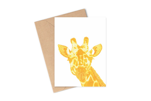 Wildshed greetings cards - giraffe