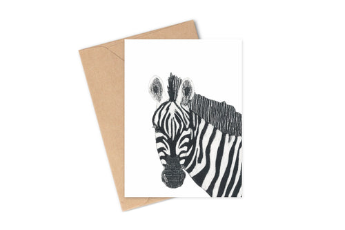 Wildshed greetings cards - zebra