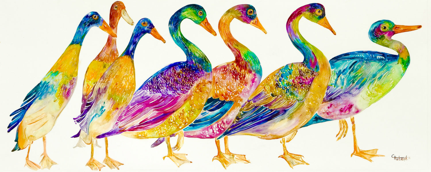 ALL DUCKS IN A ROW - Artist's Proof