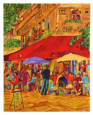 CAFE LA BELLE MANON - Original Artwork