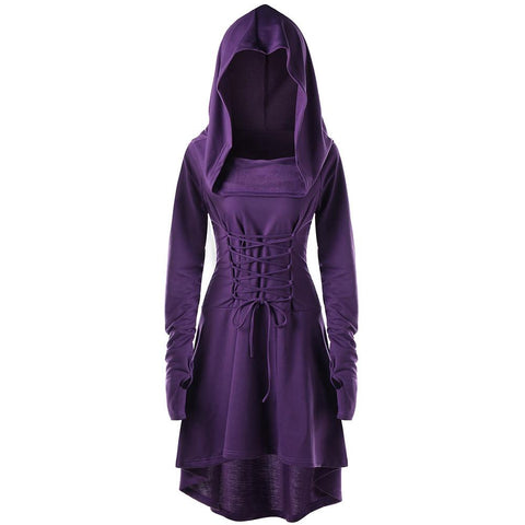 Gothic Dresses Lace Up Hooded