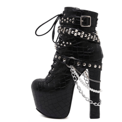 Metal Chains Rivet Shoes