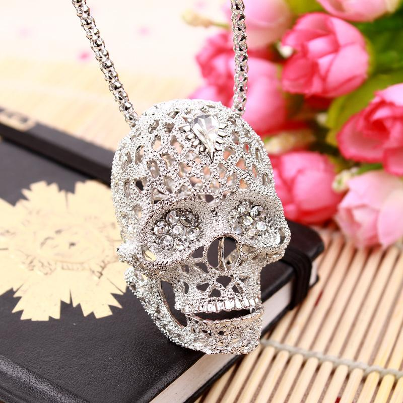 Skull Necklace Vintage European Jewelry