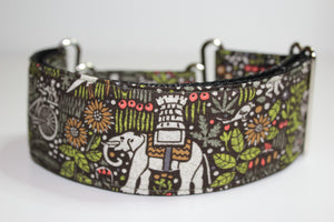 "Sighthound Collar in ""Green Paws"""