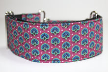 "Sighthound Collar in ""Fancy Fans"""