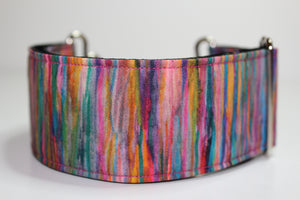 "Sighthound Collar in ""Fuzzy Rainbow"""