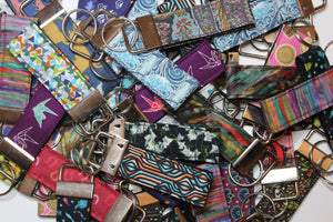 Key rings in various styles