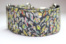 "Sighthound Collar in ""Leaves (Yellow)"""